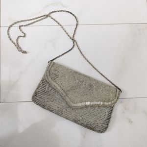 Vintage Beaded Crossbody Bag Clutch